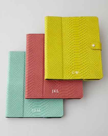 "Update your tech accessories with one of these bright Graphic Image ""python"" iPad cases ($145) to stay organized — and look ultrachic."