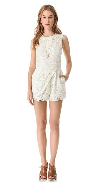 If you want to maintain your girlie edge while dabbling with the romper trend, then get into this Dolce Vita lace romper ($106, originally $132).