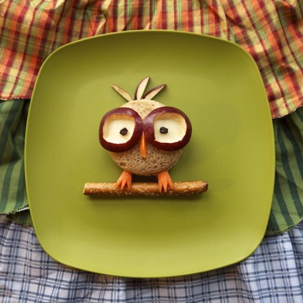 Owl you need are a few food staples to re-create this friend.  Source: Instagram user johnloveskylie