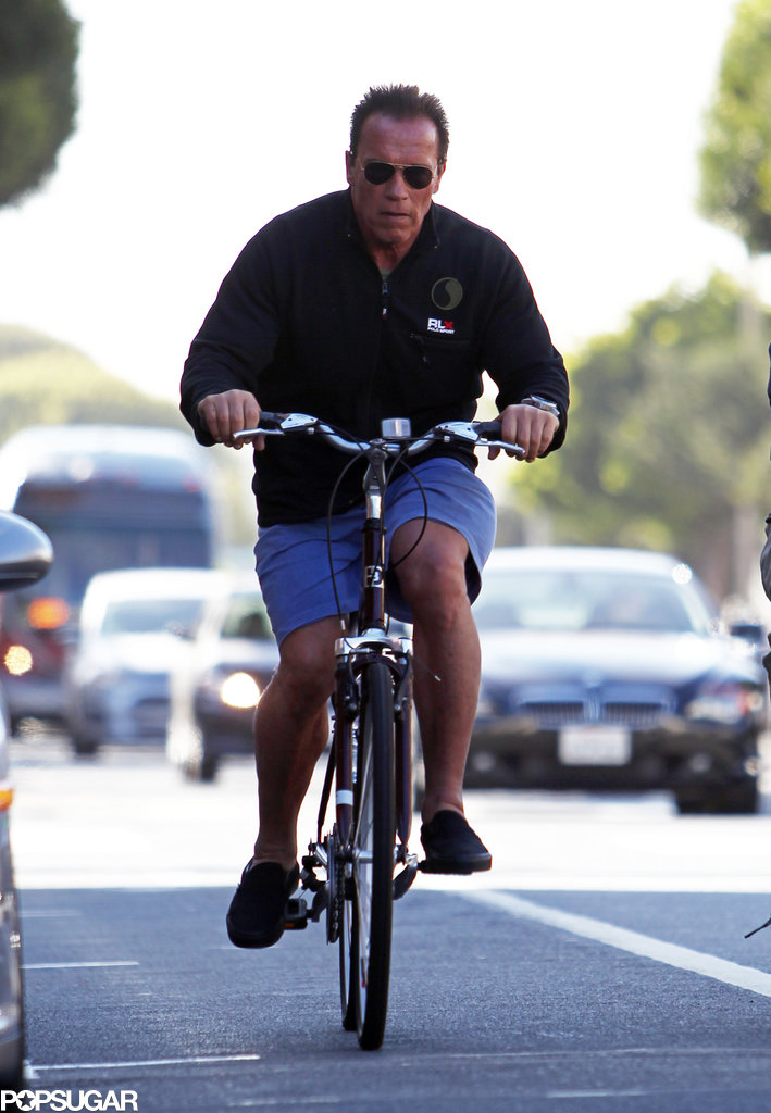 Arnold Schwarzenegger pedaled his way through LA back in April.