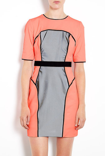 Milly Neon Power Stretch Short Sleeve Pencil Dress
