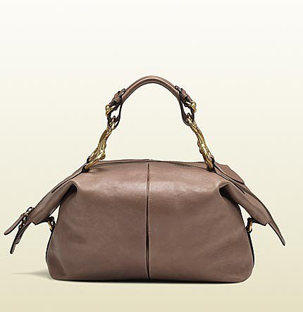 Soft Icon Pink Tan Leather Top Handle Bag
