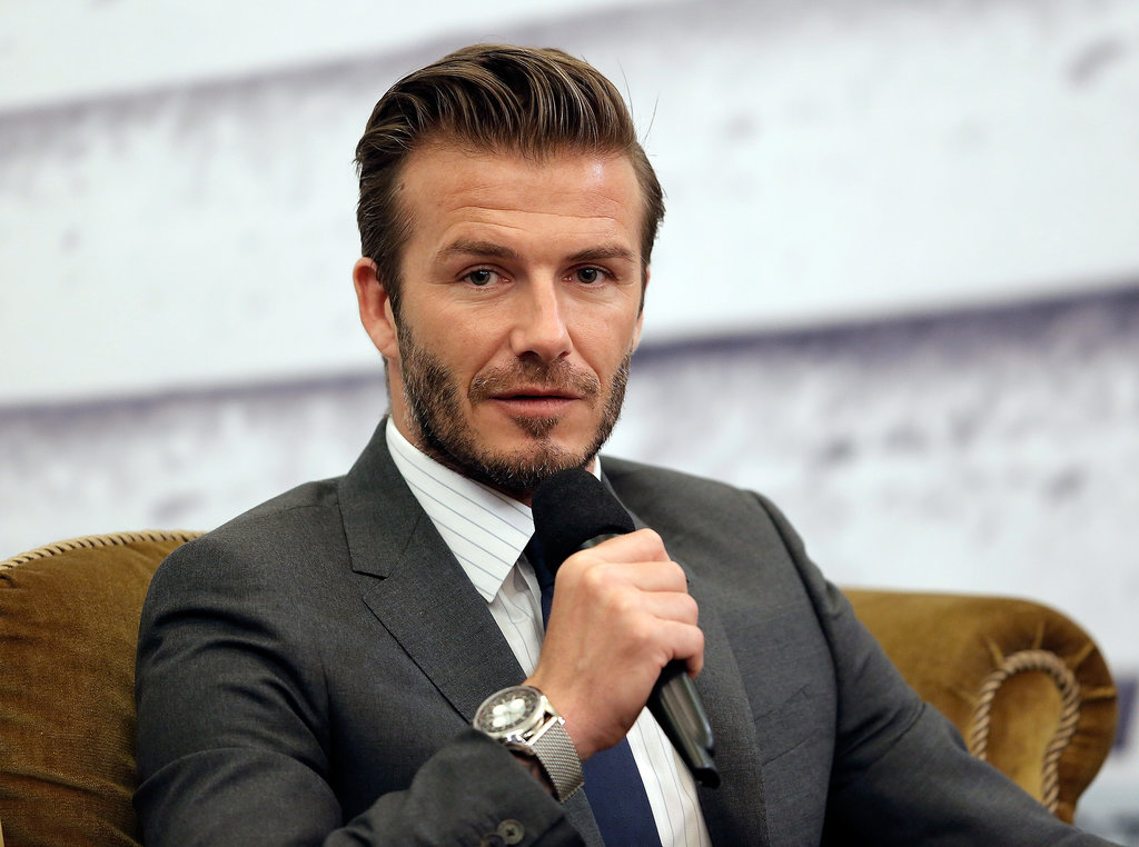 David Beckham visited Shanghai.
