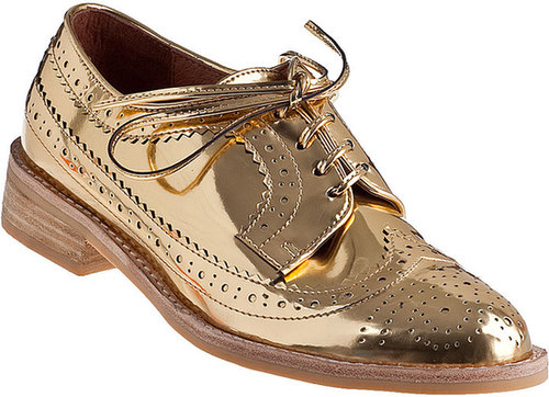 JEFFREY CAMPBELL Townsend Oxford Gold Leather