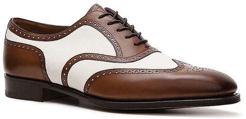 Ralph Lauren Collection Paycen Leather & Suede Wingtip Oxford