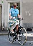 Taylor Swift looked prim and proper in October 2012 while cycling through Paris.
