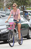 Doutzen Kroes put her legs on display during an August 2012 bike trip in Miami.