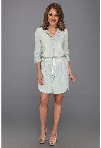 Calvin Klein Jeans - Cinch Waist Denim Shirtdress (Light Wash) - Apparel