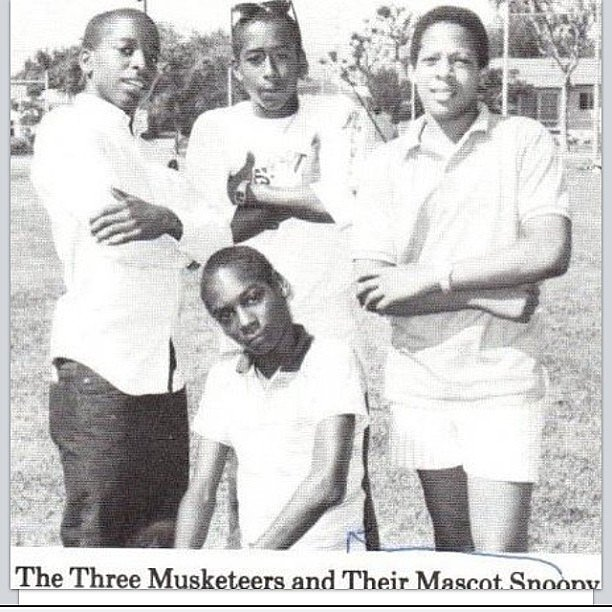 Snoop Dogg took to Instagram to show off a vintage snap of him and some friends from junior high school.  Source: Instagram user snoopdogg