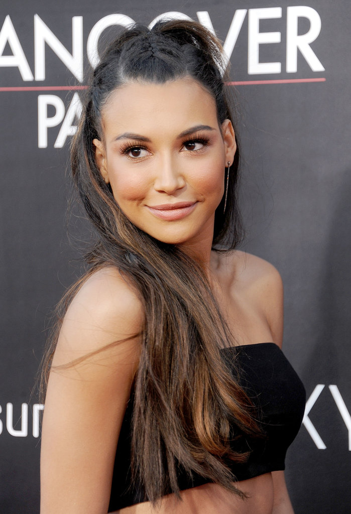Naya Rivera dressed up her blowout with tiny French braids.