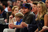 Jason Bateman got serious in May during a NY Knicks playoff game.