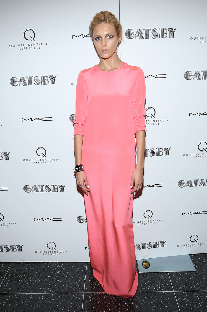Anja Rubik was pretty in pink at a screening of The Great Gatsby in NYC.
