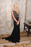 Candice Swanepoel rocked an edgy, embellished gown — and a lighter 'do — at the amfAR Gala in NYC.