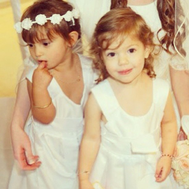 Ivanka Trump shared this sweet snap of her daughter, Arabella, and her cousin dressed as flower girls for a wedding.  Source: Instagram user ivankatrump