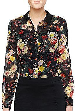 MNG by Mango® Floral Print Blouse