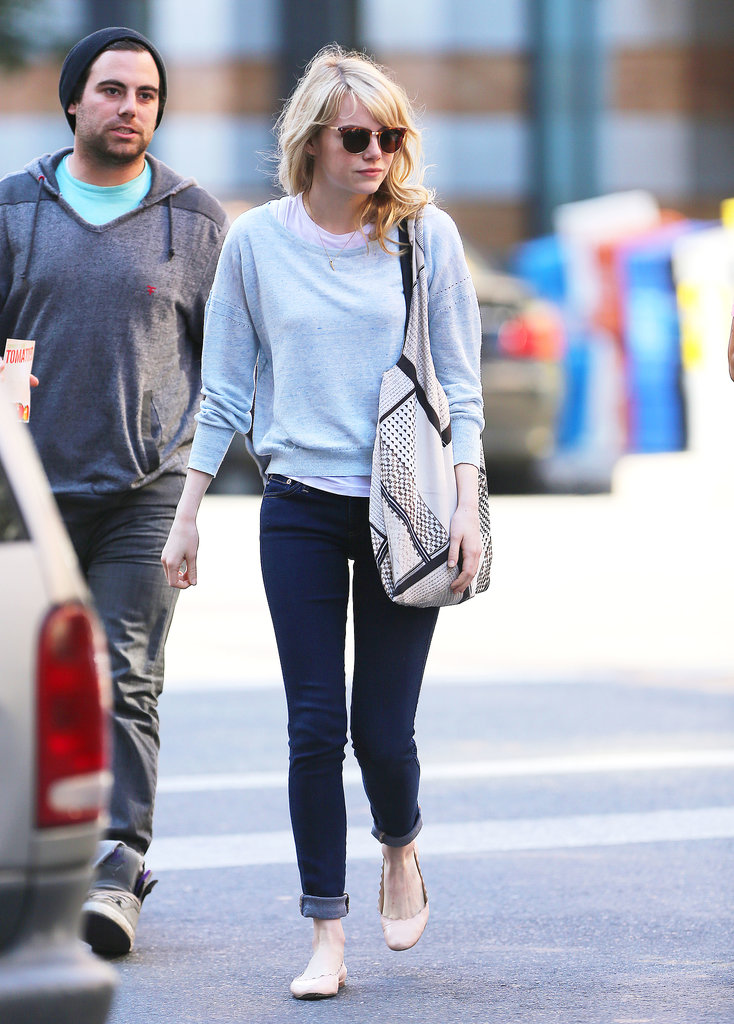 Emma Stone was looking cosy and effortlessly stylish as she had lunch at Bubby's in New York on June 19.