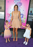 Alessandra Ambrosio took her daughter Anja and a little friend to the Los Angeles Film Festival premiere of My Little Pony: Equestria Girls on June 15.