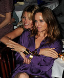 Kate Moss buddied up with her pal Stella McCartney at the Rock On benefit in London.