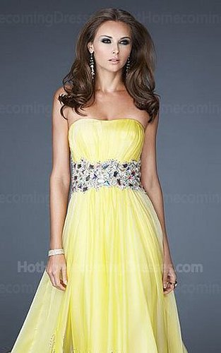 2013 Alluring Mult Colors Sequin Yellow Long Homecoming Dress