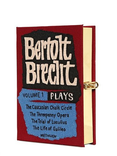Bertolt Brecht Cotton Book Clutch