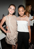 Kiernan Shipka and Amandla Stenberg at InStyle's celebration of the Elizabeth and James Fall 2013 handbag collection in Los Angeles.