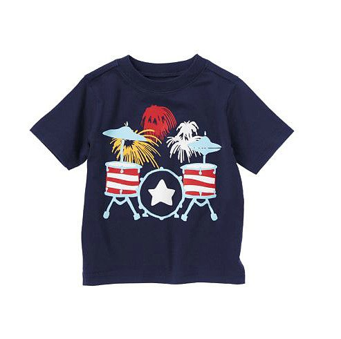 Rock out on the Fourth with this firework drum set tee ($5, originally $8) — a bargain from Crazy 8.