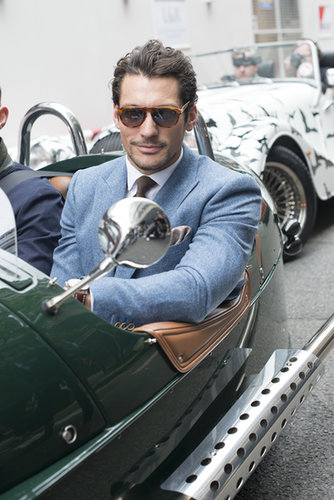 We'd happily hitch a ride with the well-dressed David Gandy.