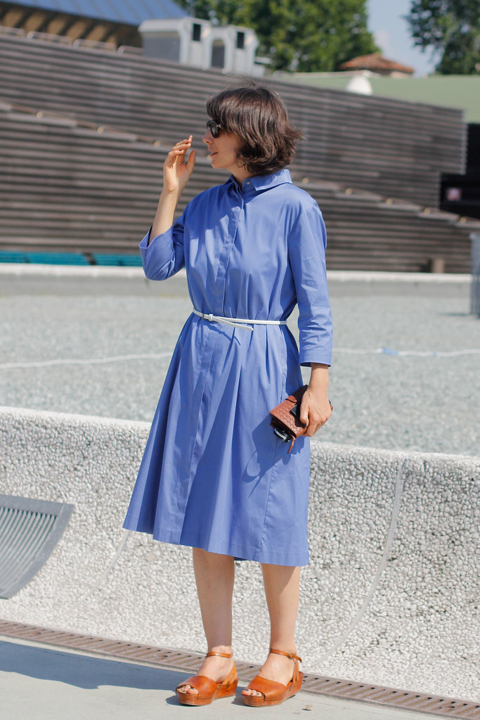 A pretty shirtdress makes the perfect Summer piece; just outfit with easy sandals and you're out the door.