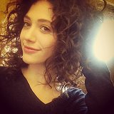 We love Emmy Rossum's natural hair texture. Source: Instagram user emmyrossum