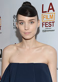 Rooney Mara was out at the LA Film Festival with her hair pulled up into a sleek topknot. She added interest to the look with smooth, sideswept bangs that lent a structural feel.
