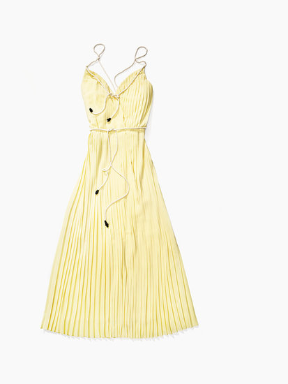 The maxi, a Summer constant, feels preppy, not boho, in Tommy's pleated, buttery yellow variety ($228).