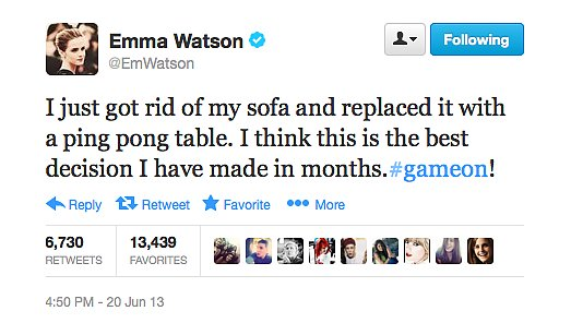 Emma Watson sounds like someone we should be friends with.