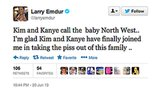 Larry Emdur was one of many stars to comment on Kim and Kanye's baby-name news. . . and we're guessing he's not loving their choice.