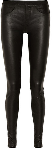 Helmut Lang Stretch-leather leggings-style pants