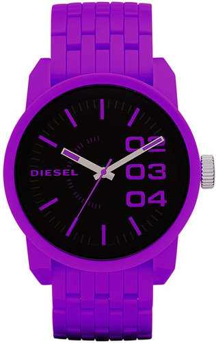 Diesel Watch, Hot Purple Plastic Bracelet 54x46mm DZ1524