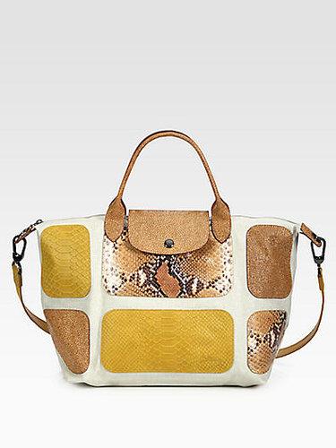 Longchamp Le Pliage Mixed-Media Patchwork Satchel
