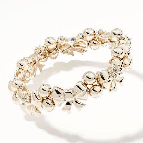 Princess vera wang simulated crystal bow stretch bracelet