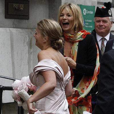 Kate Moss and Sienna Miller Attend a London Wedding