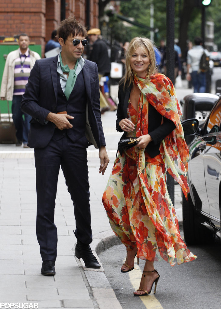 Jamie Hince and Kate Moss attended her personal assistant Fiona Young's London wedding in June 2013.