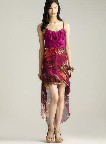 Stitch Ruffle Top Printed Hi-Lo Dress
