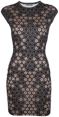 Alexander McQueen honeycomb print dress