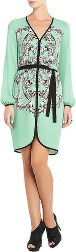 BCBGMAXAZRIA Azra Medallion-Print Dress