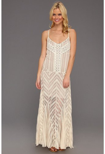 Free People - Meadows Of Lace Slip (Cream Combo) - Apparel
