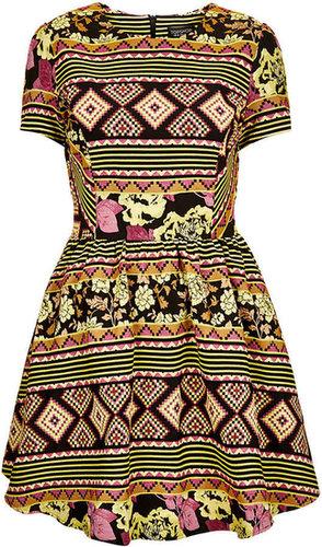 Aztec Jaquard Flippy Dress