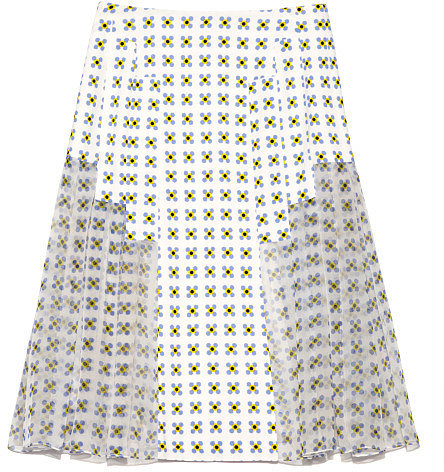 Preorder Thakoon Geo Printed Crepe Pleated Skirt