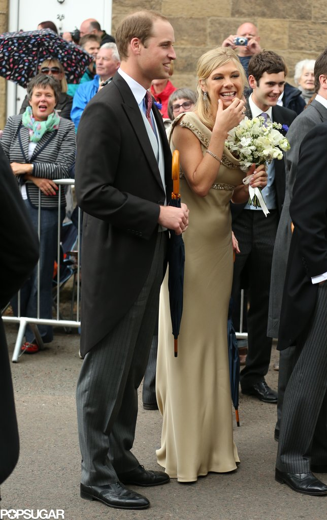 Prince William had a laugh with Chelsy Davy at a royal wedding in  Northumberland, England, in June 2013.