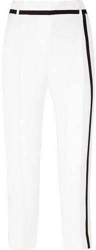 J.Crew Café cropped silk and linen-blend Capri pants