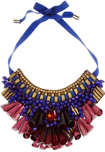 Matthew Williamson Beaded bib necklace