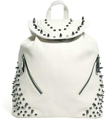 River Island White Studded Backpack