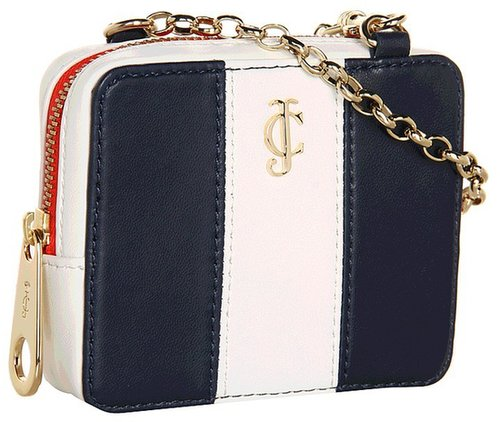 Juicy Couture - Stripe Phone Wristlet (Regal/Angel) - Bags and Luggage